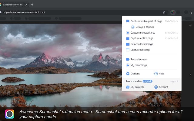 おすすめChrome拡張機能「Awesome ScreenShot」